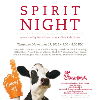Chick-Fil-A Woodbury Spirit Night